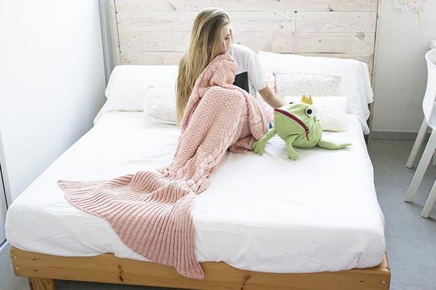 Esta manta con cola de sirena es para las que adoran el estilo romántico chic.
