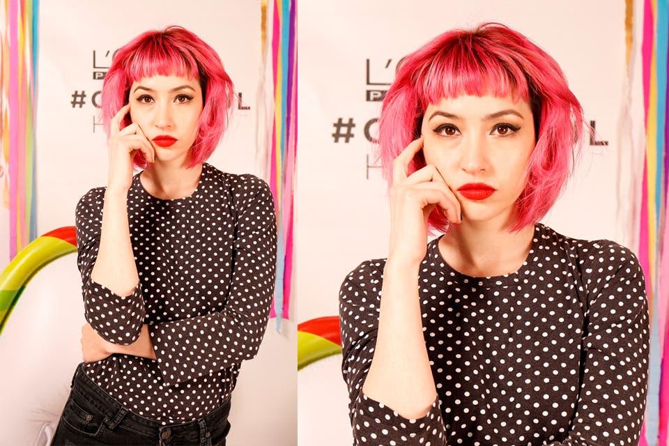 Sofía Gala también se animó al cambio de look y pegó pelo rosa chicle y corte bob. Foto: OHLALÁ!