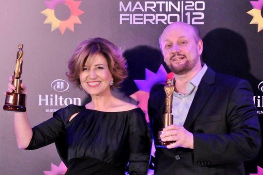 Mercedes Morán y Juan José Campanella, premiados por El hombre de tu vida. Foto: DyN