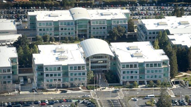 Una vista de la actual sede de Apple en Cupertino
