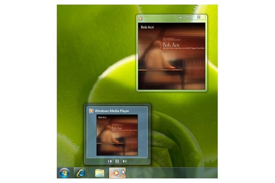 Los controles del Windows Media Player también se han renovado. Foto: Microsoft