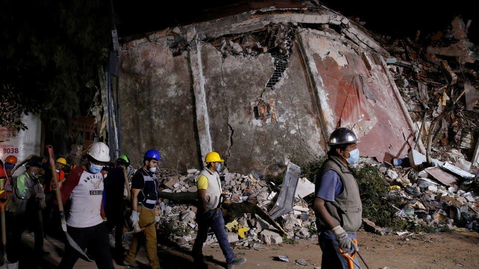 El terremoto ocurrió poco después de que México hiciera un gran simulacro nacional de sismos para recordar el ocurrido en 1985. Foto: Reuters