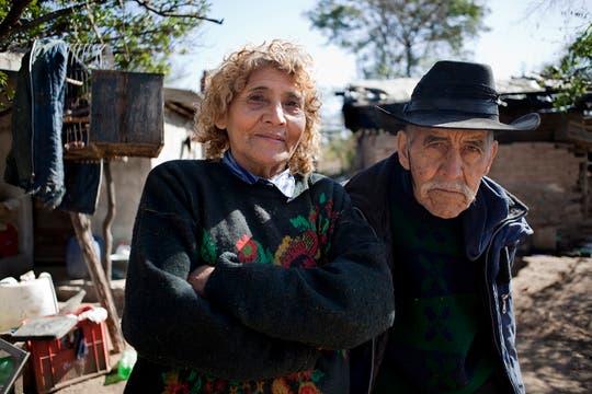 Paula junto a su compañero de la vida , Don Quiroga. Foto: LA NACION / Rodrigo Néspolo/Enviado especial