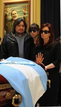 Cristina Junto a sus Hijos, Máximo y Florencia. Foto: Presidencia de La Nación