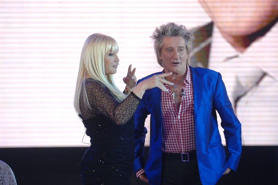 Susana con Rod Stewart uno de sus musicos favoritos. Foto:Archivo