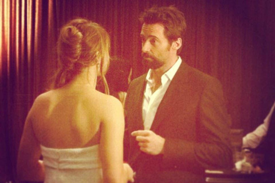 Jennifer Lawrence aprovechó para conversar con Hugh Jackman. Foto: /Instagram