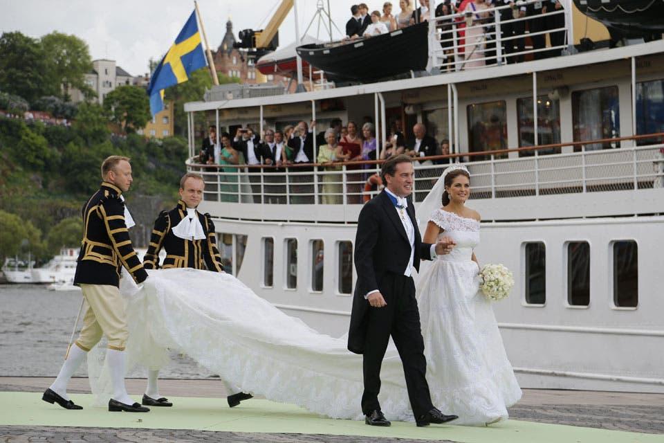 La princesa Magdalena, considerada la más linda de Europa, eligió un vestido de Valentino. Foto: /AP