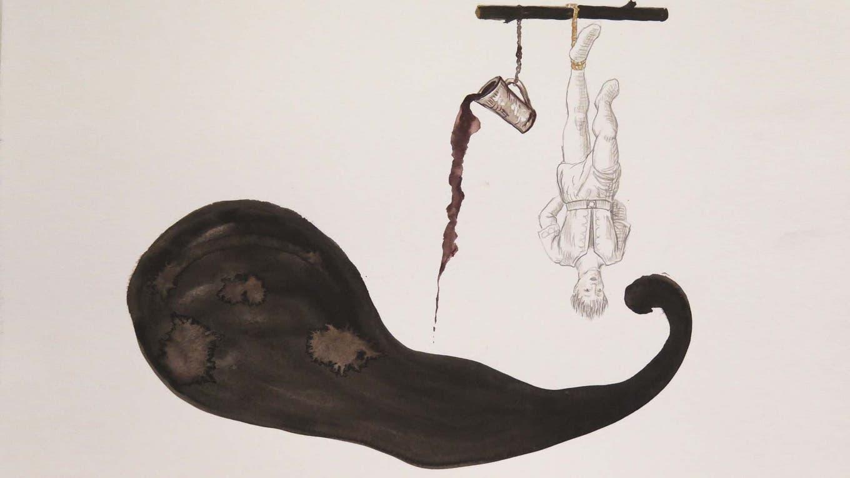 Uno de los dibujos realizados por Mondongo y Bizzio Gentileza Mondongo y Bizzio