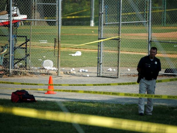 La escena del crimen, un campo de béisbol en Alexandria