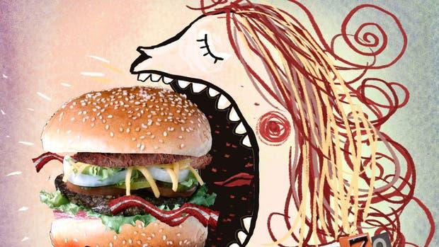 570 gramos, consumo per cápita de hamburguesas