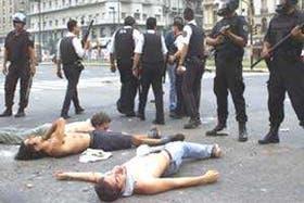 Jornadas de violencia que ensombrecieron la vida institucional del país