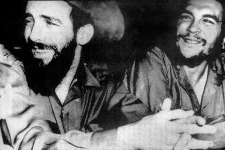 Dos amigos, Camilo Cienfuegos y el Che. Foto: Fotografía del libro Che Guevara, la vida en juego