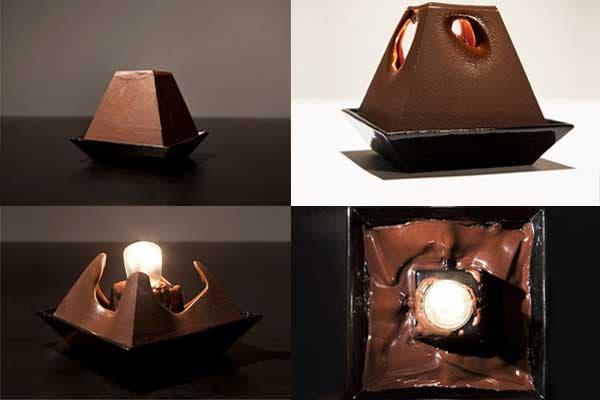 Una lámpara multifunción: prendiendo la luz un rato, ¡tenemos una riquísima fondue de chocolate!. Foto: Bemlegaus.com