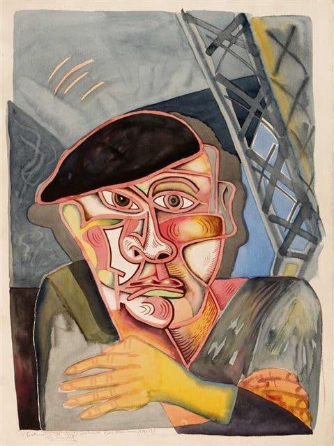 Luis Fernando Benedit, Retrato de autorretrato de Beckmann, 1988