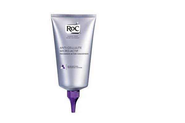 AntiCelulítico Intensivo Micro Actif actúa sobre la piel del vientre, cintura y glúteos, reduciendo en el primer mes hasta un 65por ciento de la celulitis más severa. ($216,42, 200 ml, Roc).