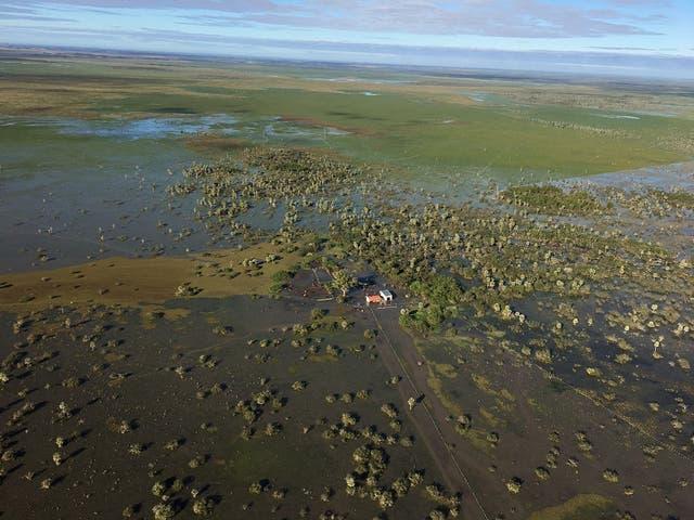 Hay campos 100% bajo el agua