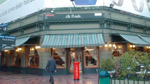 El bar La Biela en Recoleta