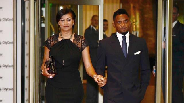 Samuel Eto''o y su esposa