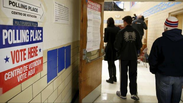 La votación ya comenzó en una escuela de Virginia