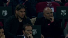 Beccacece y Sampaoli, en el Camp Nou