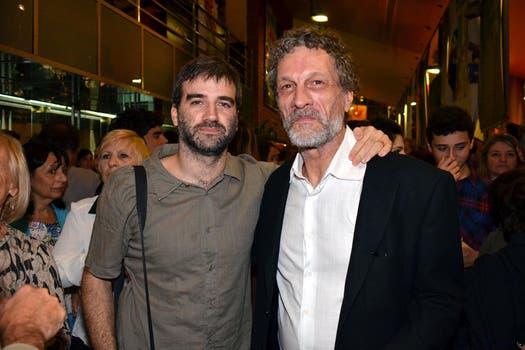 Los dos Danieles: Fanego y  Hendler, en la premiere en Belgrano. Foto: Virtual Press