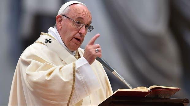 Francisco, hoy, en una misa en el Vaticano