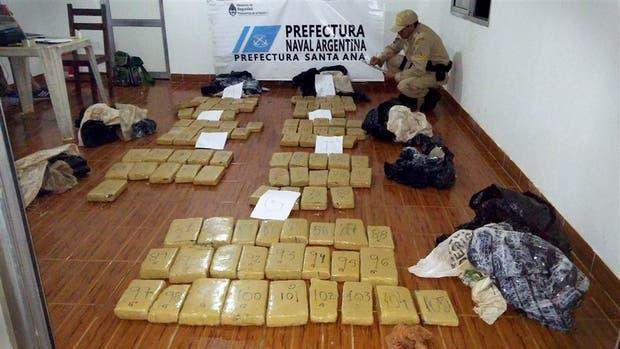 Prefectura decomisó la droga en el río Paraná