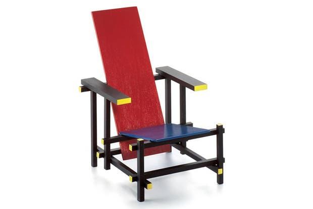 Rood blauwe stoel, Rietveld..