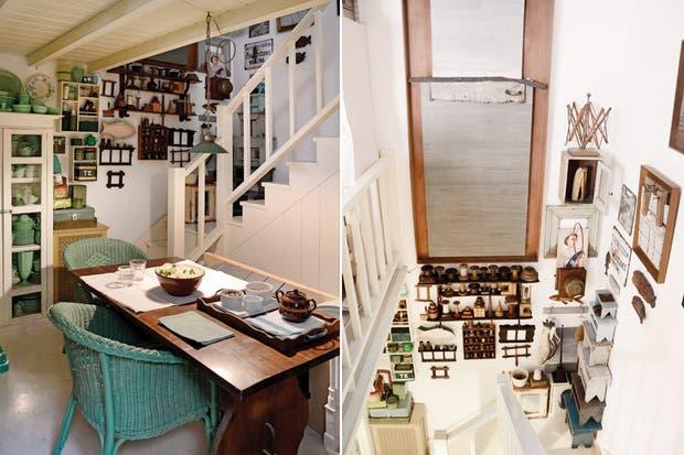 Buscando que la cocina tenga el mismo espíritu del living, el verde fue uniendo las piezas y dándoles su lugar..
