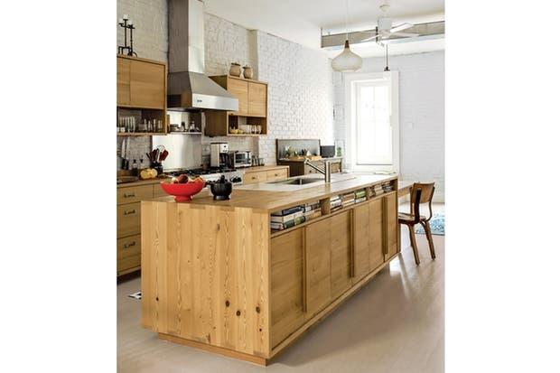 Cocinas decoradas con madera   living   espacio living