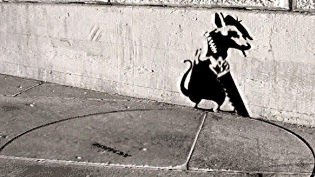 ABVH da movimiento a los dibujos callejeros de Banksy