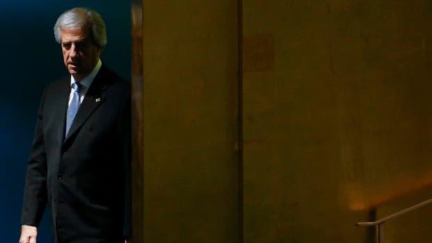 Tabaré Vázquez, esta semana, en la sede de la ONU