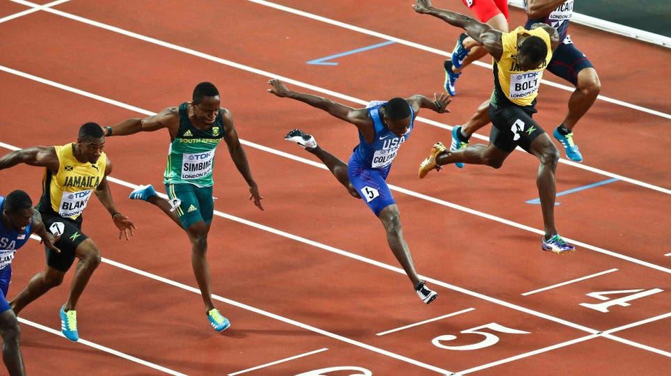 En su última carrera de los 100 metros, Usain Bolt fue tercero y ganó Justin Gatlin. Foto: Reuters / Eddie Keogh