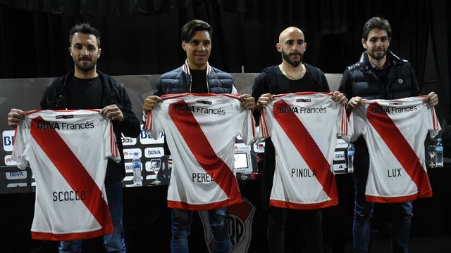 Scocco, Pérez, Pinola y Lux, los cuatro refuerzos de River para la presente temporada