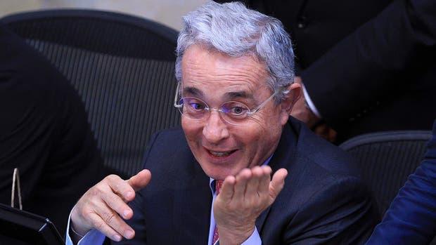 Álvaro Uribe, el gran gandor del plebiscito, ayer, en el Senado
