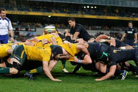 Los Pumas quedaron en la puerta de otro triunfo histórico ante los Wallabies en Perth. Foto: LA NACION / Rodrigo Néspolo / Enviado especial