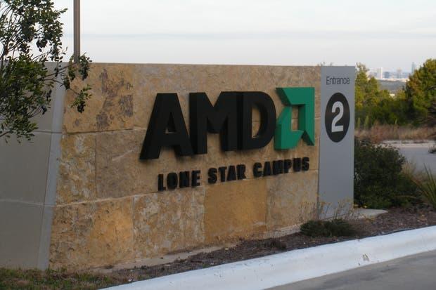 La entrada al campus Lone Star de AMD en Austin, Texas