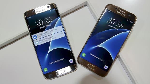 Samsung presentó los nuevos teléfonos Galaxy, en sus versiones S7 y S7 Edge