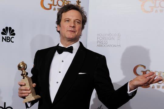 Otro premio cantado... Colin Firth ganó el Globo de Oro a mejor actor por su rol en The King´s Speech.. Foto: Reuters
