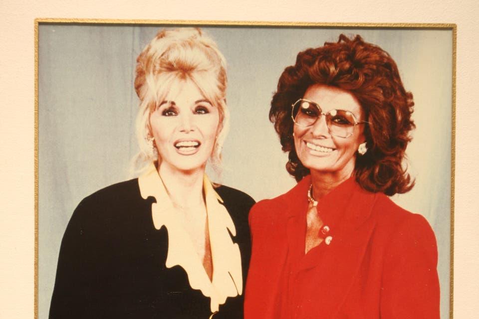 El día en que Susana recibió a Sophia Loren, en 1992. Foto:Archivo