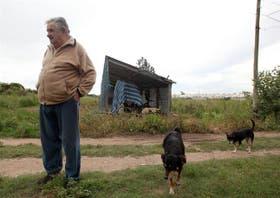 El presidente de Uruguay en su chacra cerca de Montevideo