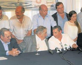 Mujica, ayer, durante la conferencia que ofreció en la localidad uruguaya de Sarandí Grande