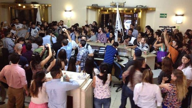 Protesta en el Ministerio de Economía