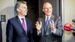 Macri se reunió con su par peruano, Kuczynski, tras su asunción