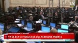 El Senado aprobó la ley que habilita el regreso de los feriados puente