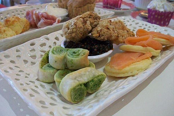 Pincho de pollo con chutney casero y otras tentaciones. Foto: Gentileza Süss