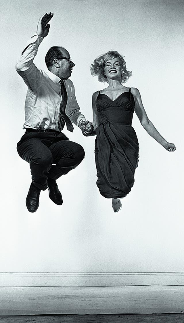 Philippe Halsman y Marilyn Monroe por Yvonne Halsman,1954.