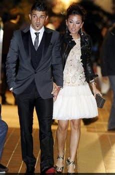 Villa, con su mujer. Foto: Mundo Deportivo