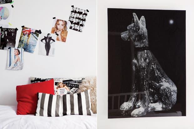 Original y llamativo, el cuadro del perro es del artista Marcello Mortarotti (galería Brillante Arte Contemporáneo).  /Javier Picerno