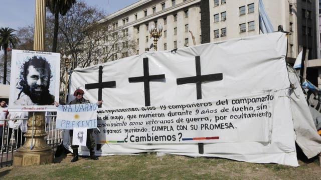 Los preparativos para la marcha por la aparición con vida de Santiago Maldonado